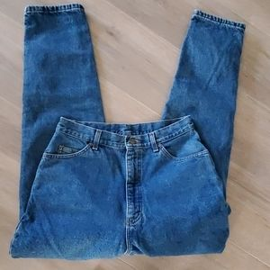 Vintage LL Bean  Flannel Lined High Waisted Jeans